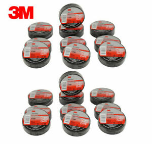 Pt964170020pk Black 3m 1700 Electrical Tape 7 Mil 3 4in X 60ft pack Of 20