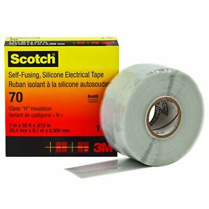 15603 Scotch 70 Self fusing Silicone Rubber Tape44 1 In X 30 Ft