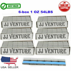 6 Box 1 Oz Gray Wheel Weights Stick on Adhesive Tape 54 Lbs Lead free 864 Pieces