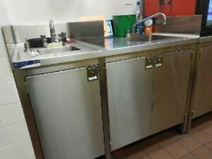 Commercial Stainless Steel Hand Sink And Dump Sink