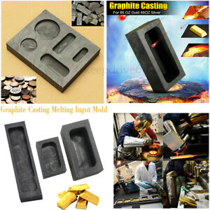 Graphite Casting Melting Ingot Bar Mold Refining Scrap For Copper Silver Gold