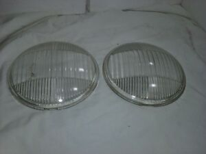 1934 1935 Chevy Guide Tilt Ray Headlight Lenses Glass Set Of 2 84ch