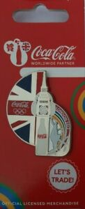 OFFICIAL COCA COLA LONDON 2012 OLYMPIC UNION JACK BIG BEN PIN BADGE BRAND NEW
