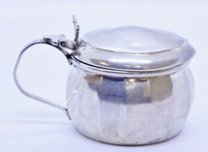 Antique William Wilkinson 925 Sterling Silver Salt Dip W Blue Glass Insert 1932