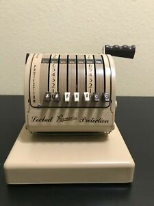 Pre Owned Vintage Tan Paymaster X 550 Check Writer Comes With No Key Included