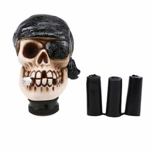 Manual Gear Shift Knob Truck Single Eye Skull Pirate Cool Style For Most Cars