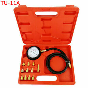 Dual Scale 0 500 Psi Car Oil Pressure Tester Gauge Engine Diagnostic Test Tools