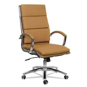 Lot Of 10 High Back Camel Leather Conference Room Table Chairs With Padded Arms