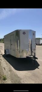 New 2018 6 X 12 V nosed Enclosed Cargo Trailer W ramp Side Doors