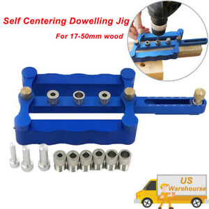 Woodworking Self Centering Dowelling Jig For 17 50mm Wood 6 8 10mm Bushings Pin