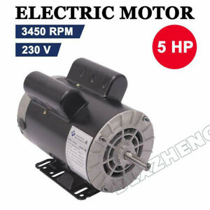 5 Hp Spl 3450 Rpm Air Compressor 60 Hz Electric Motor 208 230 Volts 5 8 Shaft