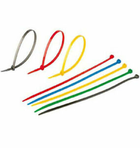 100 5000 Pcs 8 40 Lbs Blue Red Gray Brown All Color Secure Cable Zip Wire Tie
