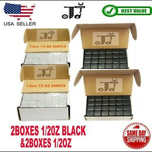 4box 1 2 Oz Gray And Black Wheel Weights Stick on Adhesive Tape 36 Lbs Lead free