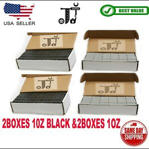 4box 1 Oz Gray And Black Wheel Weights Stick on Adhesive Tape 36 Lbs Lead free