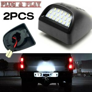 2x Led License Plate Lamp Bumper Light For Gmc Yukon Sierra 1500 Hd 2500 Hd 3500