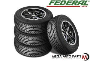 4 New Federal Couragia Xuv P225 55r18 98v All Season Suv Touring Highway Tires