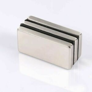Large Neodymium N52 Block Magnet Super Strong Rare Earth 2 X 1 X 1 4 Usa