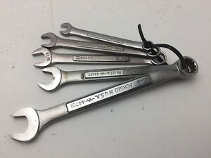 Craftsman Lot Of 5 Wrenches C2b5