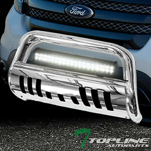 Topline For 2011 2018 Ford Explorer Stainless Bull Guard 120w Cree Led Light Bar