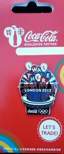 OFFICIAL COCA COLA COKE LONDON 2012 OLYMPIC I WAS THERE PIN BADGE (MOC)
