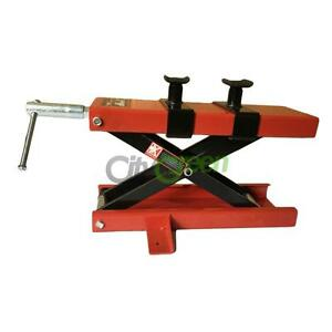 1100 Lb Mini Scissor Lift Jack Atv Motorcycle Dirt Bike Scooter Crank Stand Red
