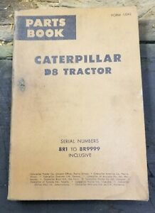 Caterpillar D8 Tractor Parts Book Manual Serial Numbers 8r1 8r9999 Inclusive