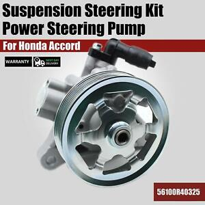 Power Steering Pump W Pulley 56110r40325 For 2008 2012 Honda Accord 2 4l L4