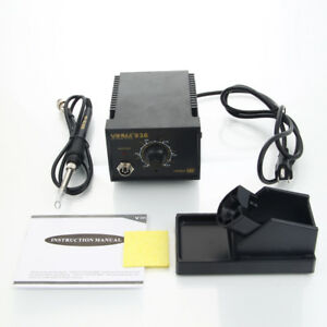 Yihua 936 2in1 Esd Adjustable Temperature Soldering Iron Station 45w 110v Black