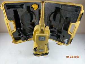 Topcon Gpt 2009 Surveying Total Station With Carry Case 30 Day Warranty k3