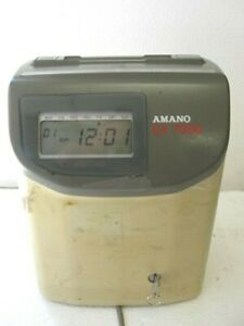 Amano Ex 7600 Electronic Time Clock Series Ex 7000