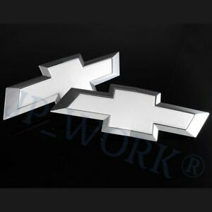 For Chevrolet Colorado Front Grill Tailgate Bowtie 2015 2018 Chevy Emblem Set