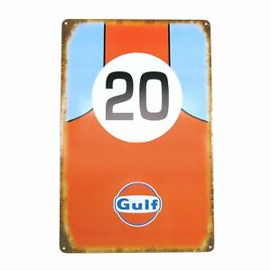 Gulf Metal Sign Hot Rods Rat Rods Muscle Cars Streets Rods