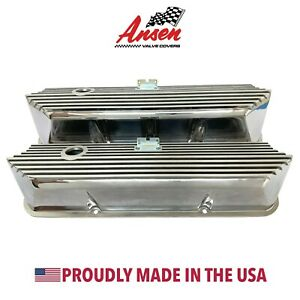 Ford Fe Finned Valve Covers Polished Tall Die Cast Aluminum Ansen Usa