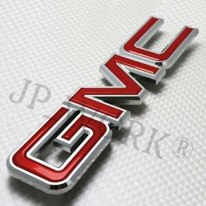 For Gmc Sierra 1500 2500hd 3500hd Grill 2008 2010 Grille Emblem Badge Red Front