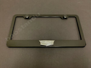 1xcadillaclogo 3d Emblem Black Stainless License Plate Frame Rust Free S Caps