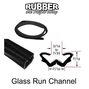 Universal Window Run Channel Flexible 7 16 Tall X 7 16 Wide 8 Strip