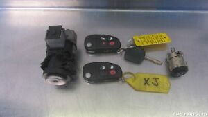 Jaguar S type 2002 2007 Ignition Cylinder 2x Fob Key Set 2r83 12a145 bg