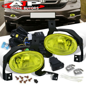 2010 2011 Crv Jdm Bumper Driving Fog Lights Lamps Unit Amber Wiring Switch