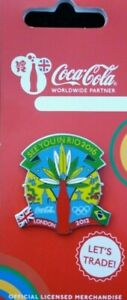 OFFICIAL LONDON 2012 OLYMPIC COCA COLA SEE YOU IN RIO 2016 PIN BADGE BRAND NEW