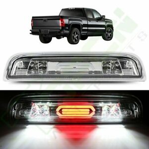 Fits 2014 2018 Silverado sierra Chrome clear led Bar third 3rd Brake cargo Light