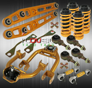 92 95 Civic Eg6 Yellow Coilover Jdm Lower Control Arm F R Camber Kit Gold