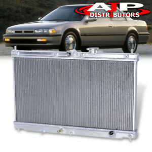 2 row Aluminum Performance Engine Cooling Radiator For 1990 1993 Honda Accord