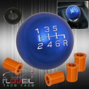 For Toyota M8 M10 M12 Kit Adapter Kit 6 Speed Round Shift Knob Light Weight Blue