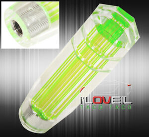 For Bmw 6 12x1 25mm Clear 3d Long Extended Drift Shift Knob Time Attack Green