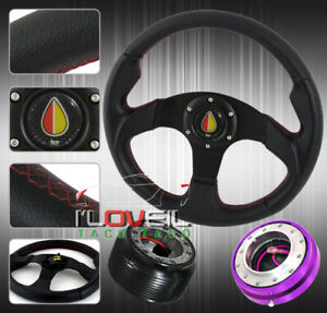 Mr2 Ae86 Tc Xb S2000 Steering Wheel Black Red Hub Adapter small Quick Release