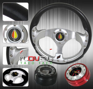 3pc Combo Quick Release Hub 320mm T340 Racing Steering Wheel For Nissan 240sx