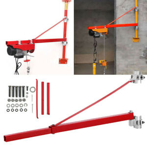 600kg Capacity Electric Cable Hoist Crane Support Arm Winch Lifting Pole Bracket