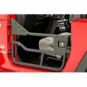 Bestop 51825 01 Element Doors 1997 2006 Jeep Wrangler Matte Black Front Lower Ha