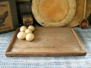 Small Early Antique Wood Sorting Tray Original Surface Square Nail Free Shipping