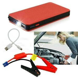 Portable Mini Slim Car Jump Starter Engine Battery Charger Power Bank 20000mah
